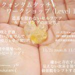 11/21月-11/22火 クォンタムタッチワークショップ@大阪