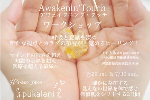 7/29土&7/30日 Awakenin'Touch ワークショップ@大阪参加者募集