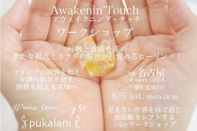 8/5土 名古屋 Awakenin'Touch 1dayワークショップ