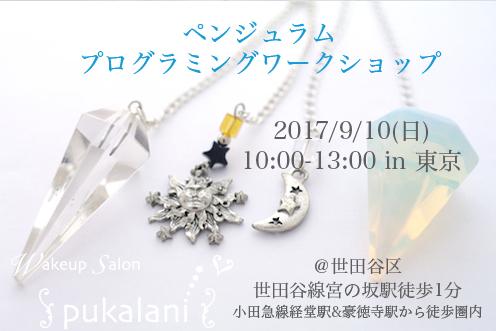 9/10(日) ペンジュラム・プログラミング ワークショップ@東京