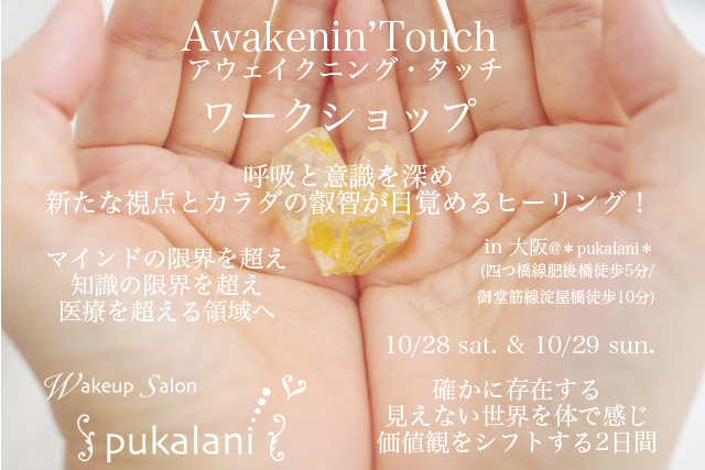 10/28-10/29 土日 Awakenin'Touch ワークショップ@大阪