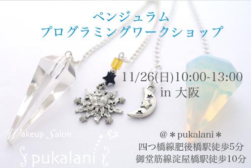 11/26(日) ペンジュラム・プログラミング ワークショップ@大阪