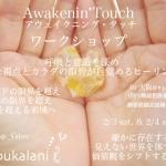 2/3-2/4 土日 Awakenin'Touch ワークショップ@大阪