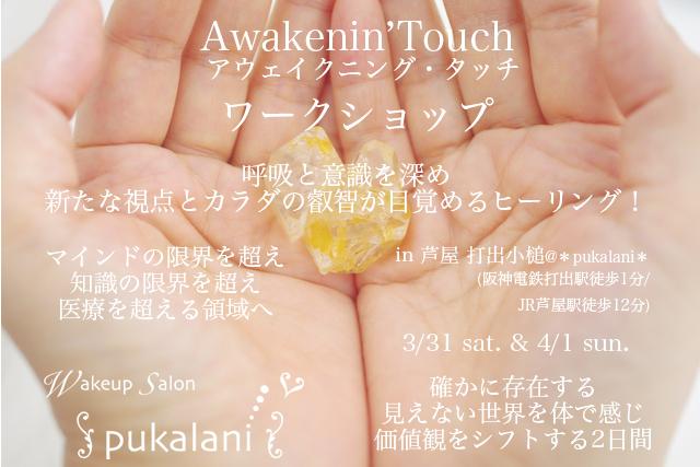 3/31-4/1 土日 Awakenin'Touch ワークショップ@芦屋