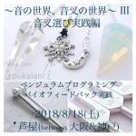 8/18(土) 音叉ワークショップ〜音叉選び実践編〜@芦屋