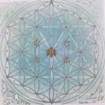 12/5 色に触れ、神聖幾何学に触れ フラワーオブライフを描いてみる