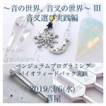 3/6(水) 音叉ワークショップ〜音叉選び実践編〜@芦屋